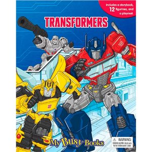 Libro de Cuentos Transformers + 10 Figuras + Poster Gigante Tapa Dura