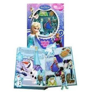 Libro de Cuentos Frozen + 10 Figuras de Succion Adherible Original