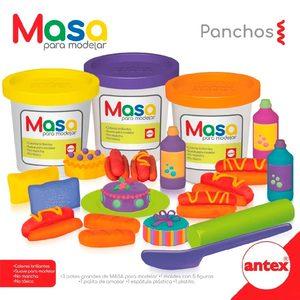 Masa para Modelar Panchos Antex 3 Potes + Moldes