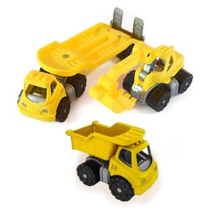 Mini Camión con Trailer + Retro Excavadora + Volcador Duravit