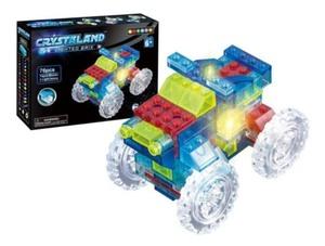 Camioneta Crystaland Ladrillos Con Luz 6 En 1 X 76 Piezas Para Armar