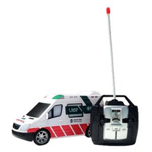Ambulancia Same Emergencias a Radio Control Luz Sonido Gira a Pilas