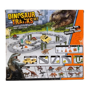 Pista Dinosaurio Set 45 Piezas Juguetes Con Accesorios