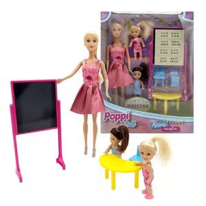 Muñeca Poppi Doll Kiara Maestra 2 Nenas