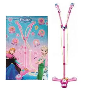 Microfono Doble Infantil Frozen Karaoke Luces