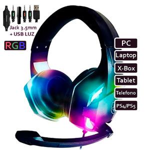 Auriculares Gamer World Vibration Sound Gaming 9D