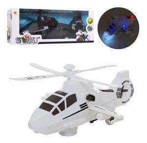 Helicóptero Swat Sonido Movimiento Proyecta Luz