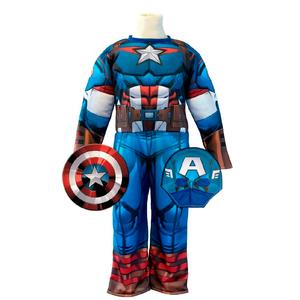 Disfraz Capitan America con Musculos talle 0