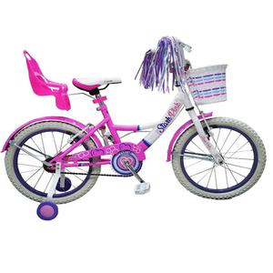 Bicicleta Rodado 16 Flower Rueda Inflable