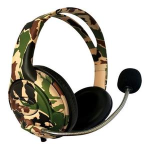 Auricular Gamer Camuflado Micrófono  Netmak Battle Ideal PLay 4