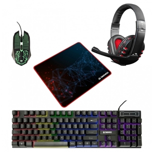 Kit Gamer Teclado Mouse Auricular Pad Combo 4en1 Rgb Daewoo