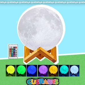 Parlante Velador Luna Llena Impreso 3d Eco Sustentable Led 16 Colores