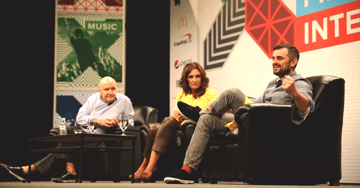 Gary Vaynerchuk with Jack and Suzy Welch at SXSW 2015