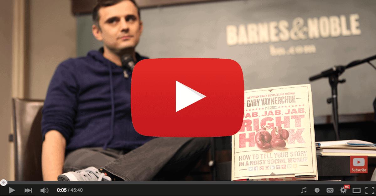 YouTube Video of Gary Vaynerchuk talking about Jab Jab Jab Right Hook