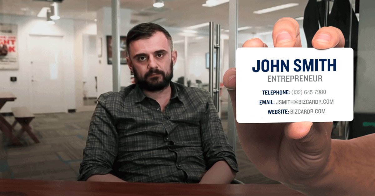 Gary Vaynerchuk hates business cards