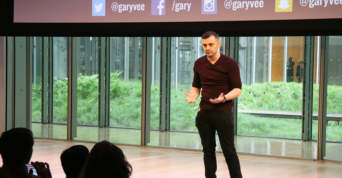 Gary Vaynerchuk giving a keynote speech
