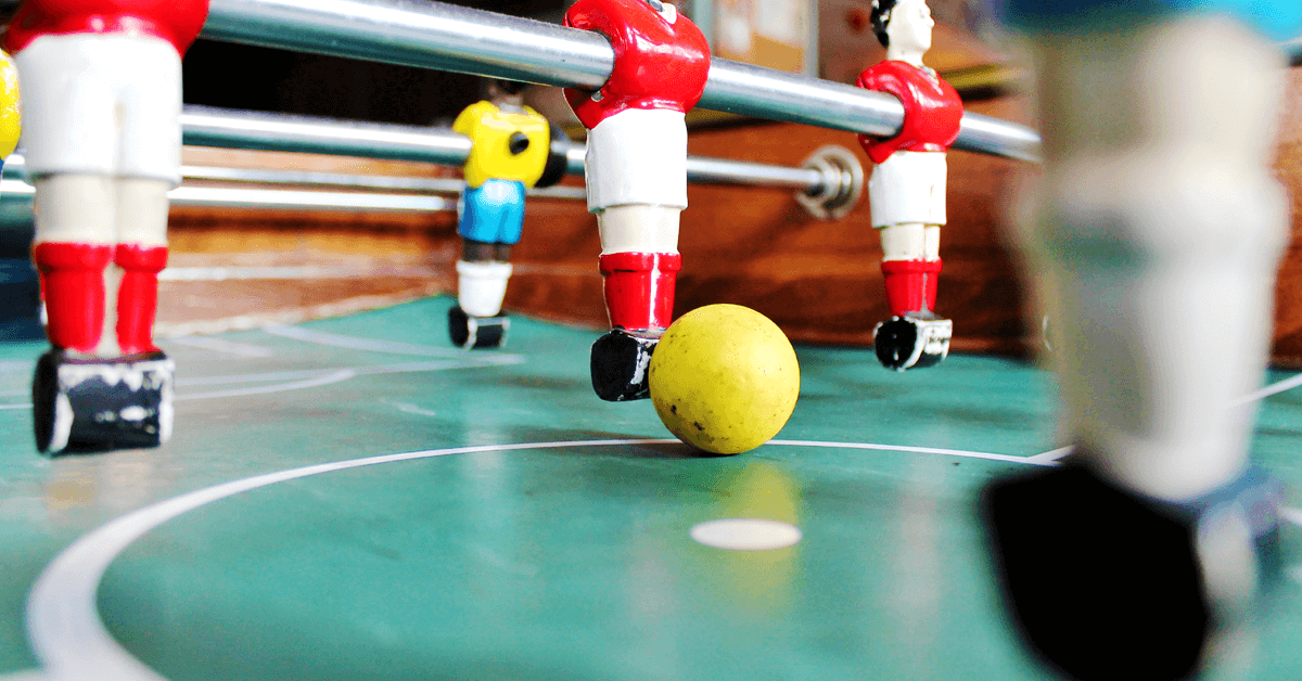 Teamwork in foosball
