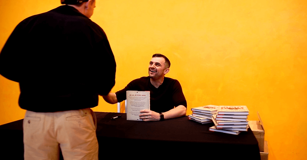 Gary Vaynerchuk at a book signing for Jab, Jab, Jab, Right Hook