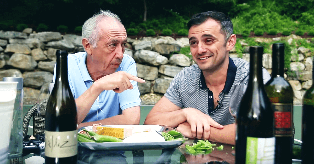 Gary Vaynerchuk with his father Sasha Vaynerchuk