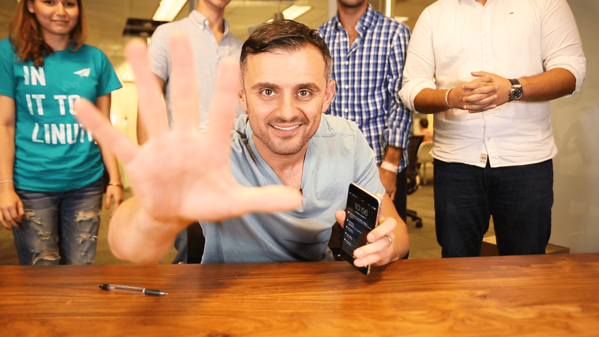 #AskGaryVee Episode 130 shows Gary Vaynerchuk with Vaynermedia interns