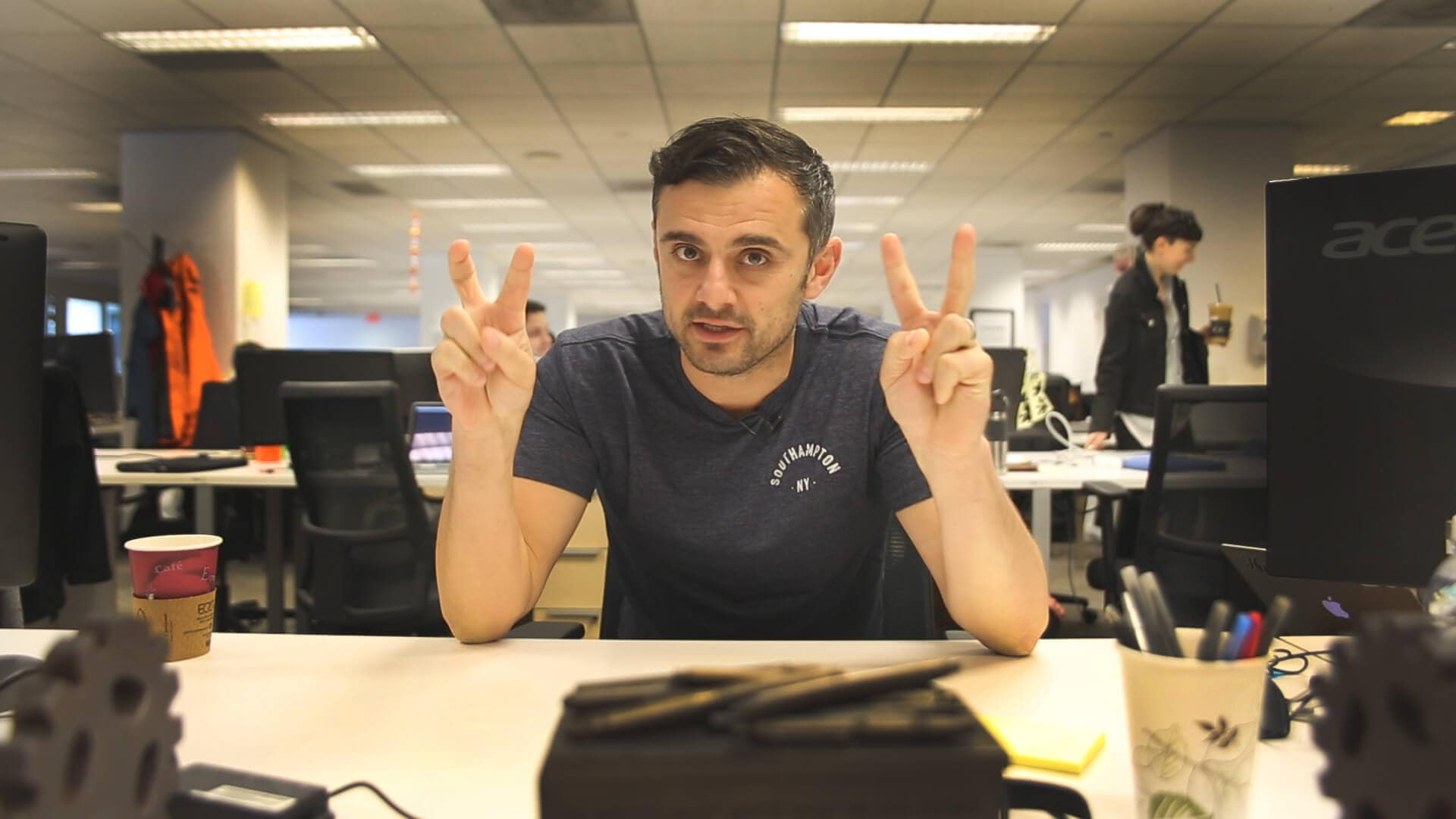 AskGaryVee Episode 143 on floor 12 of VaynerMedia