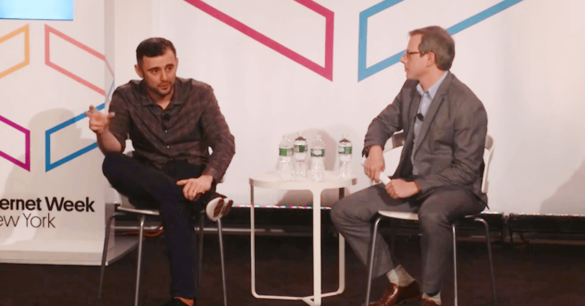 Gary Vaynerchuk speaking at Internet Week New York