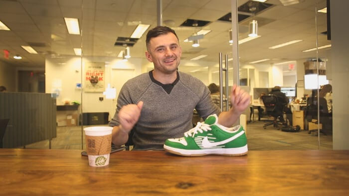 Gary Vaynerchuk talking about his New York Jets Nike's on the #AskGaryVee Show