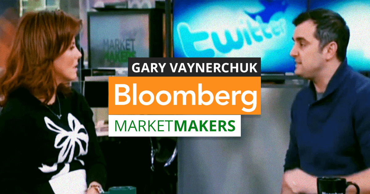 Gary Vaynerchuk talks with Stephanie Ruhle on Bloomberg Market Makers
