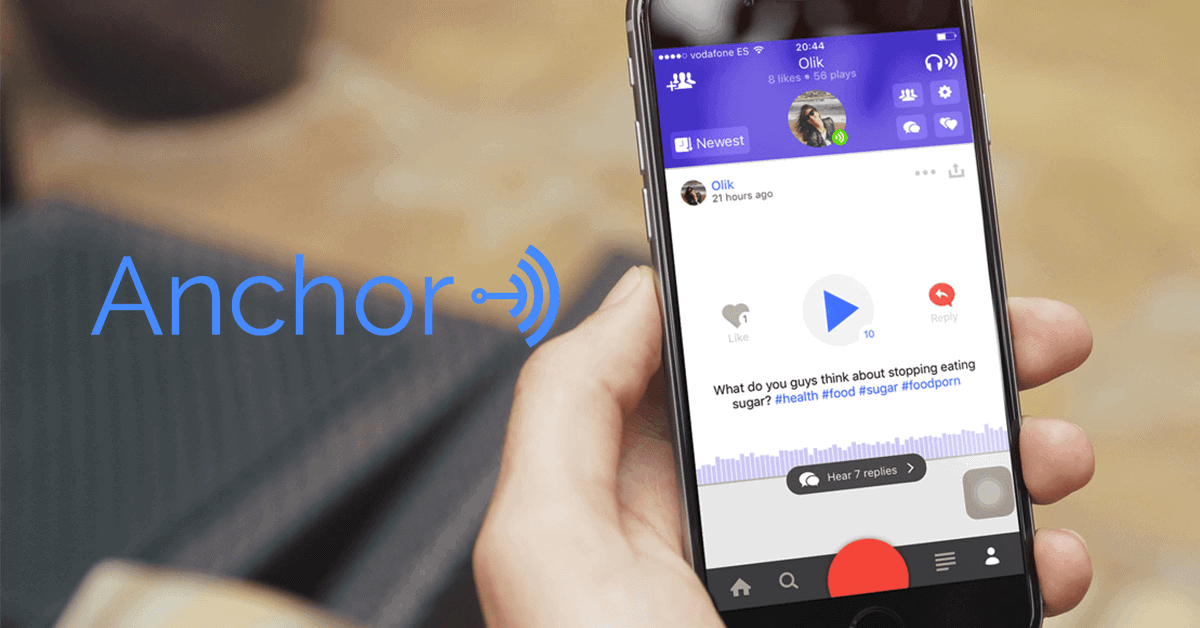 Anchor is an app that allows you to record and share soundbites--what they call waves--of yourself talking.