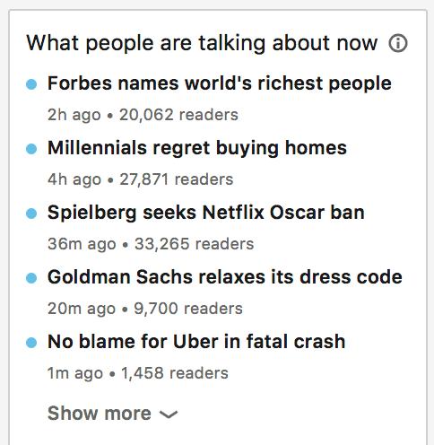 linkedin trending topics