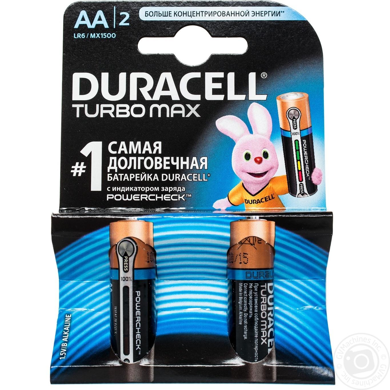 Батарейки Duracell Turbomax АА 2шт