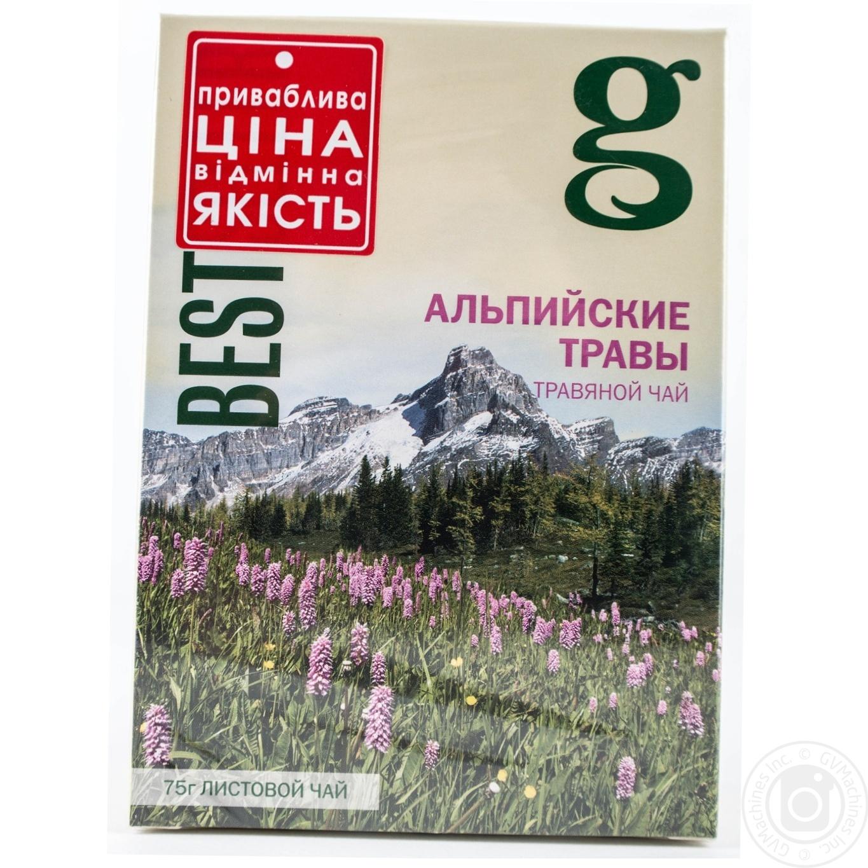 Смесь травяная Грэйс! Альпийские травы с зеленым чаем 75г