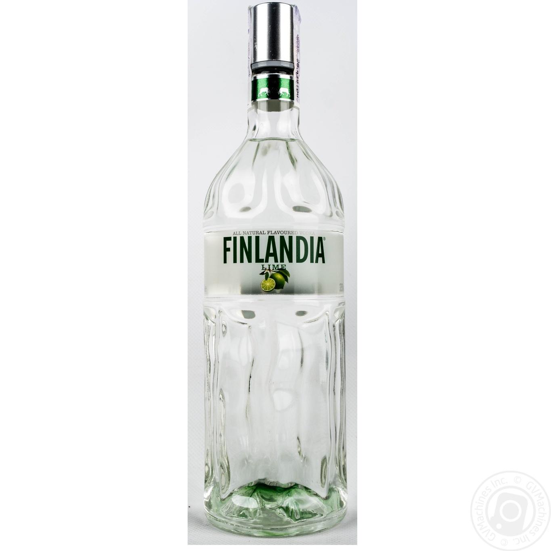 Алкогольный напиток Финляндия Лайм 37.5% стеклянная бутылка 1000мл