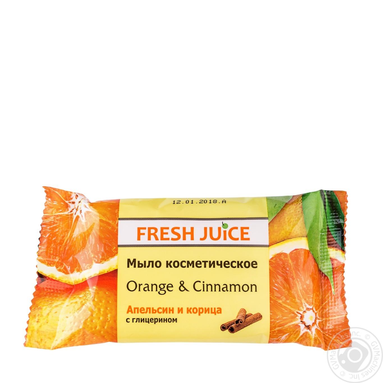 Мыло косметическое Fresh Juice апельсин и корица 75г