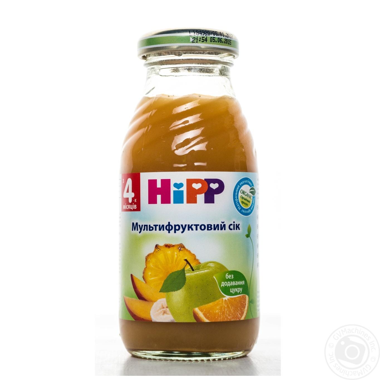 Сок ХиПП мультивитаминный детский без сахара с 4 месяцев 200мл