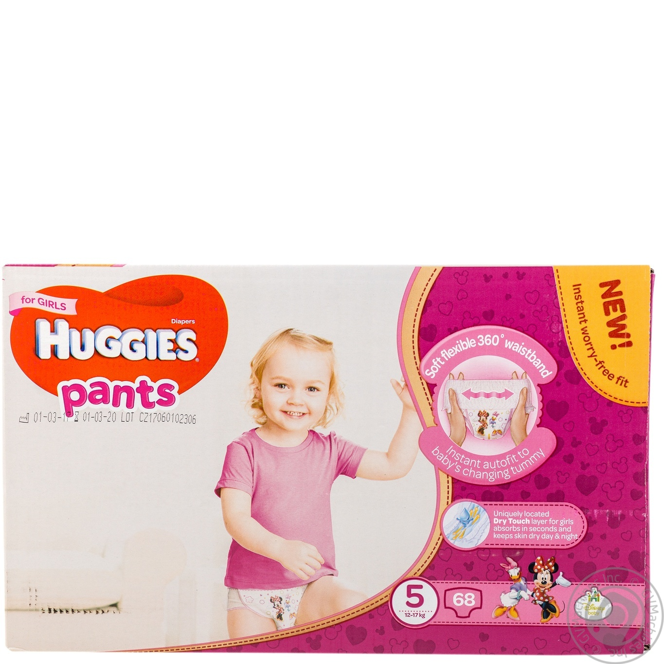 HUGGIES PANTS 5 ДІВЧ 12-17КГ 6