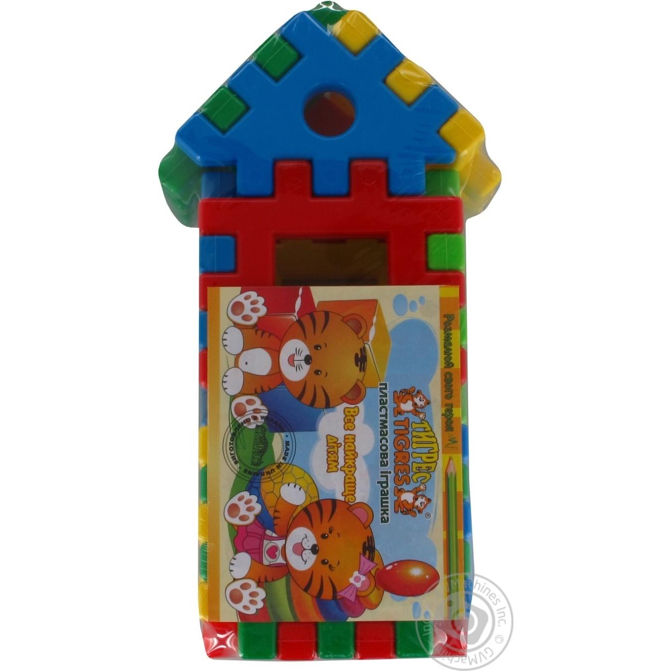 Игрушка Tigres Поєднайко конструктор домик 39196 13 элементов