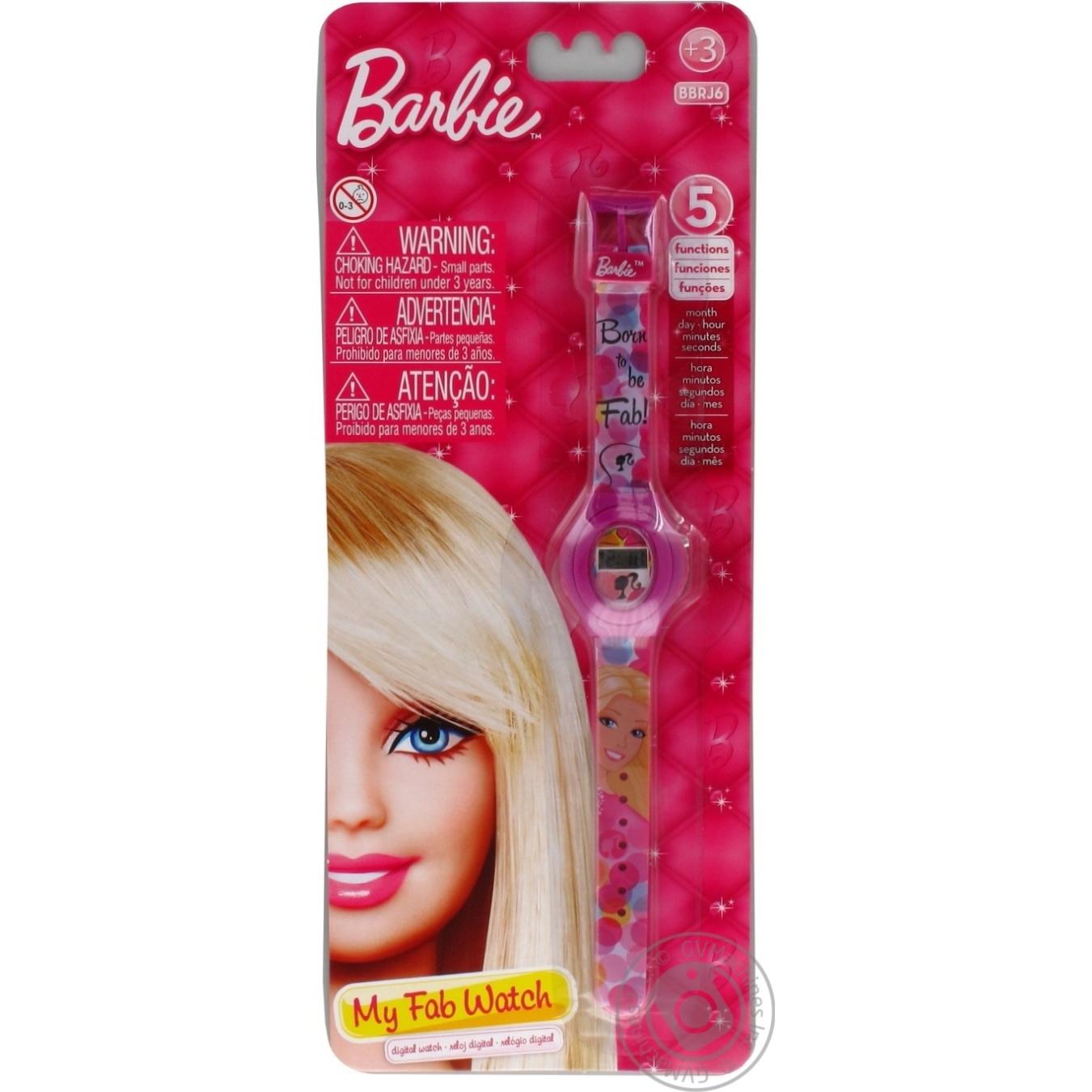 Часы наручные Barbie детские 5 функций