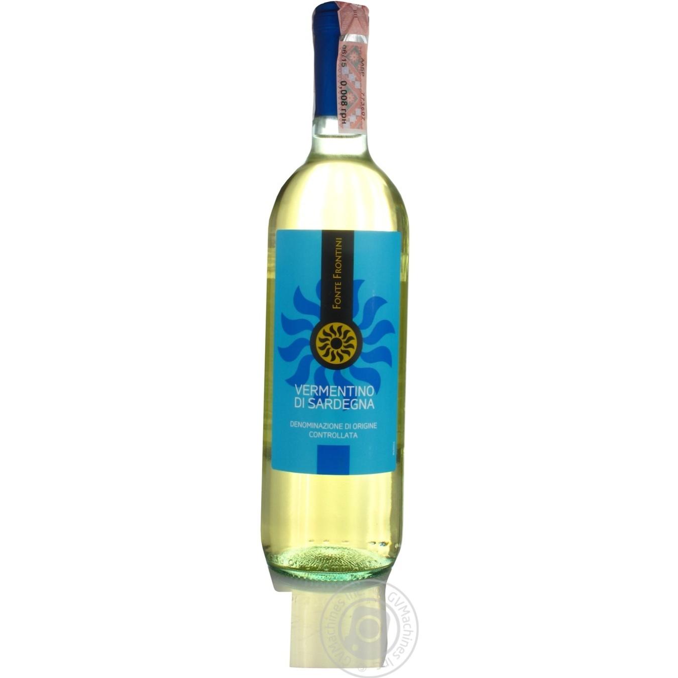 Вино Fonte Frontini Vermentino di Sardegna белое сухое 0,75л