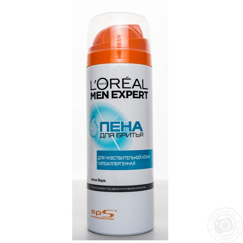 Пена L'Oreal Men Expert Система защиты кожи для бритья для чувствительной кожи 200мл