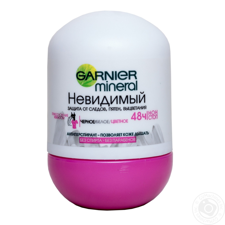 Антиперспирант Garnier mineral Невидимый шариковый 50мл