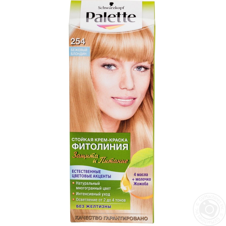 Краска для волос Palette Фитолиния №254 бежевый блондин 1шт