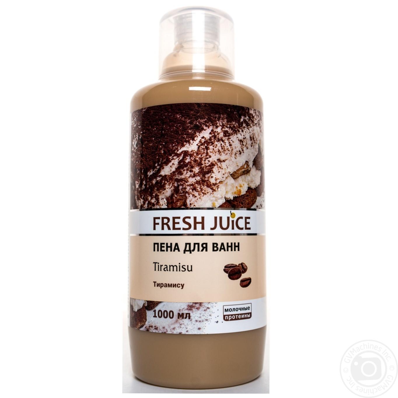 Пена для ванн Fresh juice тирамису 1л