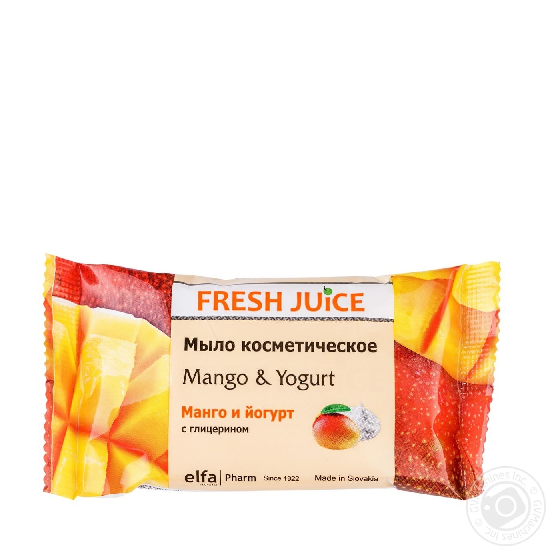 Мыло косметическое Fresh Juice манго и йогурт 75г