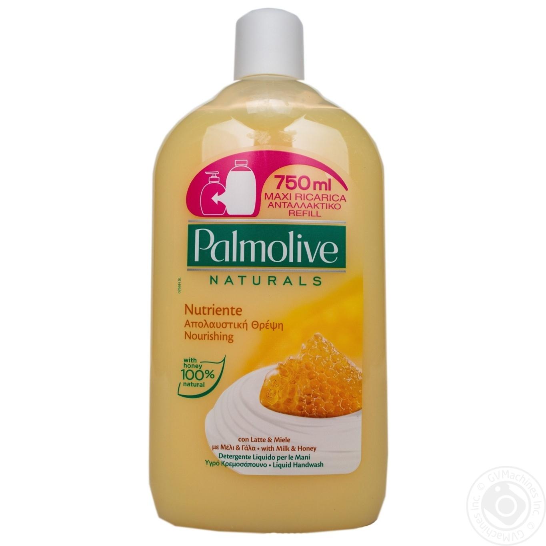 Жидкое мыло Palmolive Натурэль Питание Мед и Увлажняющее молочко 750мл