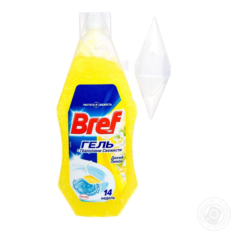 Освежитель для туалета Bref Лимон гель с корзинкой 360мл
