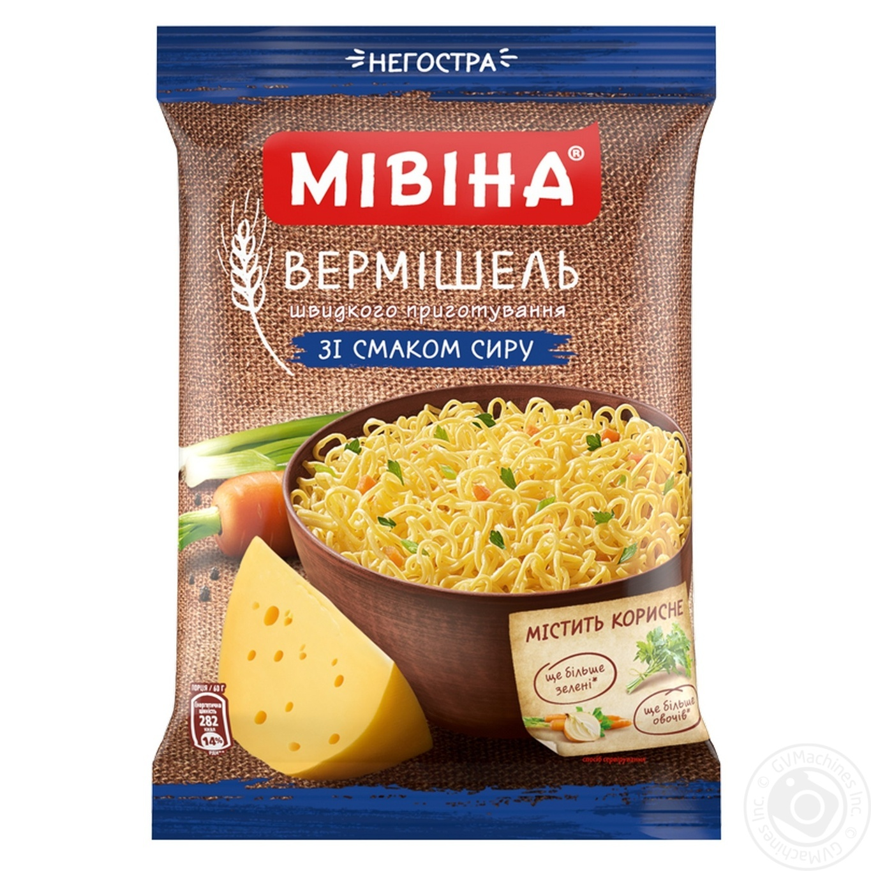 Вермишель Мивина со вкусом сыра неострая 60г