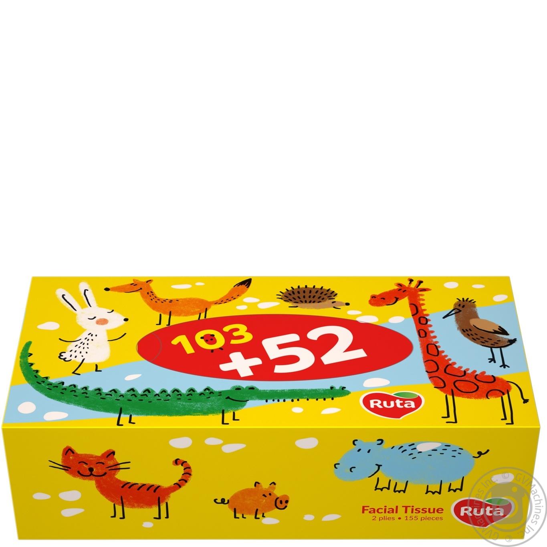 Салфетки косметические Ruta Kids 155шт
