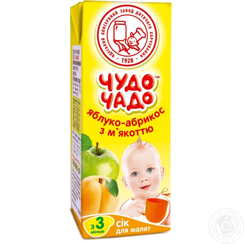 Сок Чудо-Чадо яблочно-абрикосовый с мякотью с 3-ох месяцев 200мл