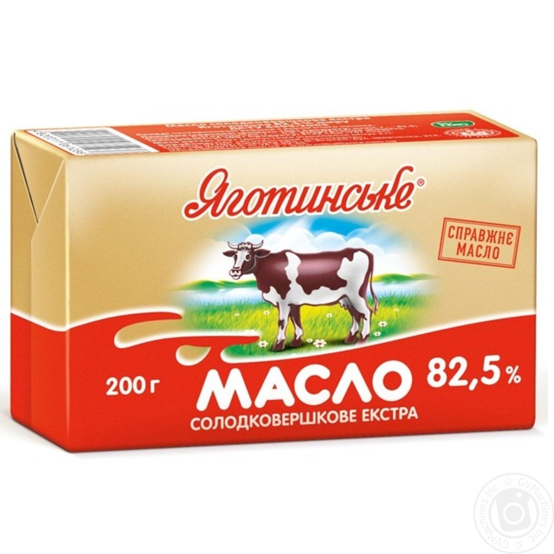Масло Яготинское сладкосливочное экстра 82.5% 200г